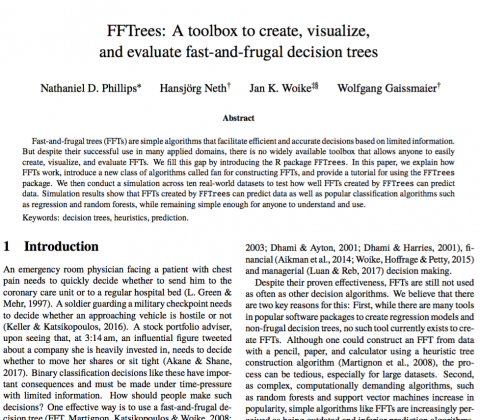 FFTrees, Phillips et al. (2017), JDM